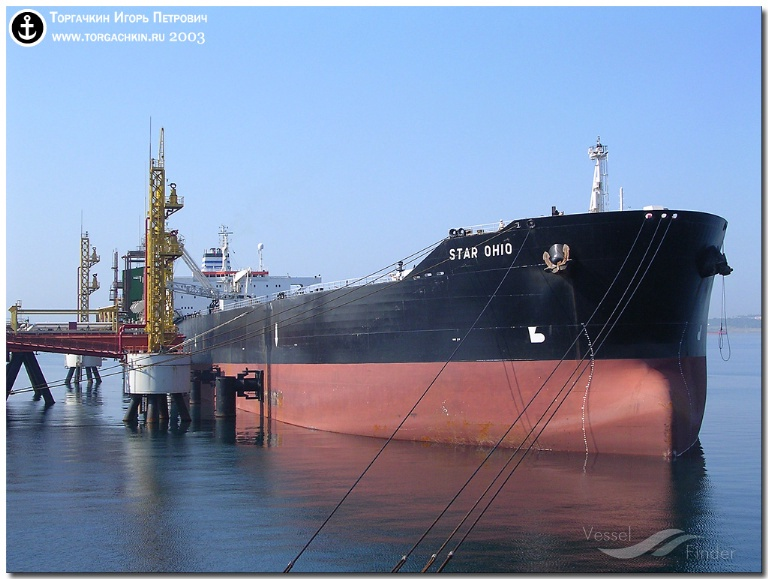 UNITED STAR (MMSI: 0) ; Place: Oil Terminal SHESKHARIS, port Novorossiysk, Russia.