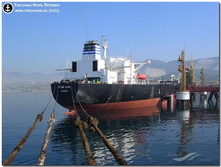 MT UNITED STAR (MMSI: 636013593) ; Place: Oil Terminal SHESKHARIS, port Novorossiysk, Russia.