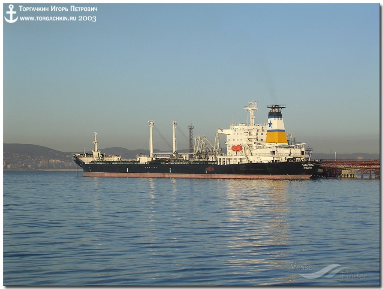 VALDIV (MMSI: 616999382) ; Place: Oil Terminal SHESKHARIS, port Novorossiysk, Russia.