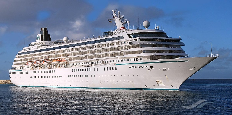 CRYSTAL SYMPHONY (MMSI: 309168000) ; Place: Barbados, West Indies.