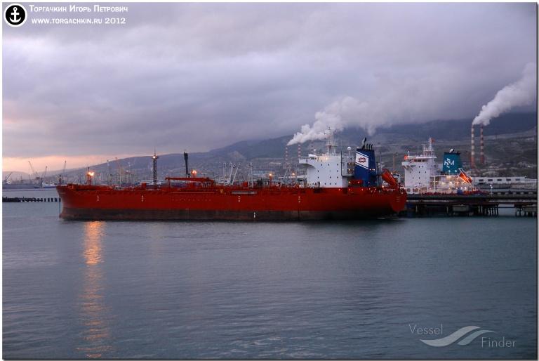 ORE (MMSI: 636010513) ; Place: Oil Terminal SHESKHARIS, port Novorossiysk, Russia.
