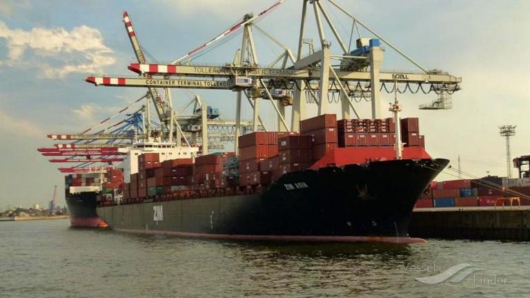 ZIM ASIA (MMSI: 636016516) ; Place: Hamburg_Hafen