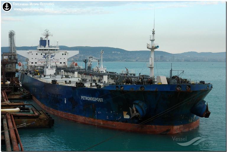 PACIFIC LAGOON (MMSI: 636011488) ; Place: Oil Terminal SHESKHARIS, port Novorossiysk, Russia.