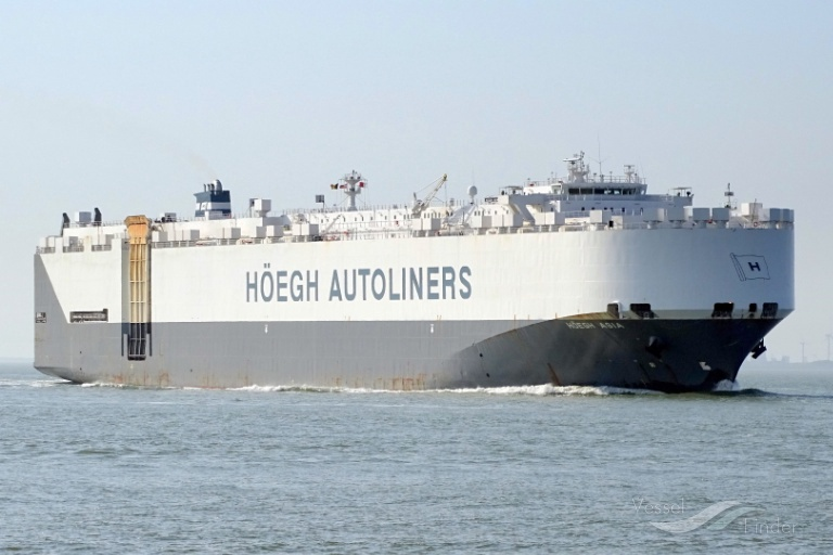 HOEGH ASIA, Vehicles Carrier - Details and current position