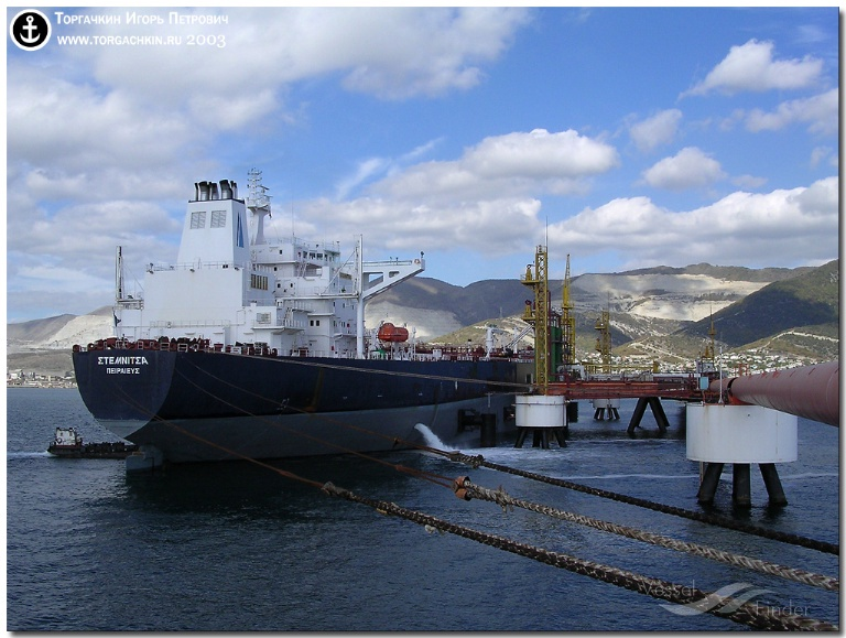 JAG LAKSHITA (MMSI: 419689000) ; Place: Oil Terminal SHESKHARIS, port Novorossiysk, Russia.