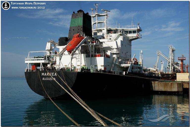 MARITEA (MMSI: 247062400) ; Place: Oil Terminal SHESKHARIS, port Novorossiysk, Russia.