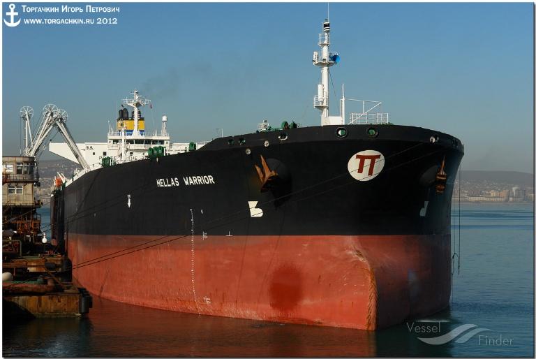 NEW HELLAS (MMSI: 239772000) ; Place: Oil Terminal SHESKHARIS, port Novorossiysk, Russia.
