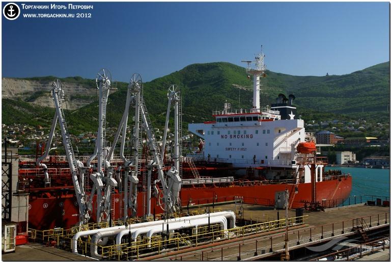 MARIELLA BOTTIGLIERI (MMSI: 247055300) ; Place: Oil Terminal SHESKHARIS, port Novorossiysk, Russia.