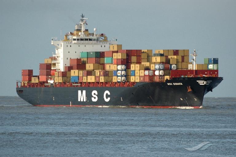 MSC DONATA (MMSI: 372491000) ; Place: Rotterdam