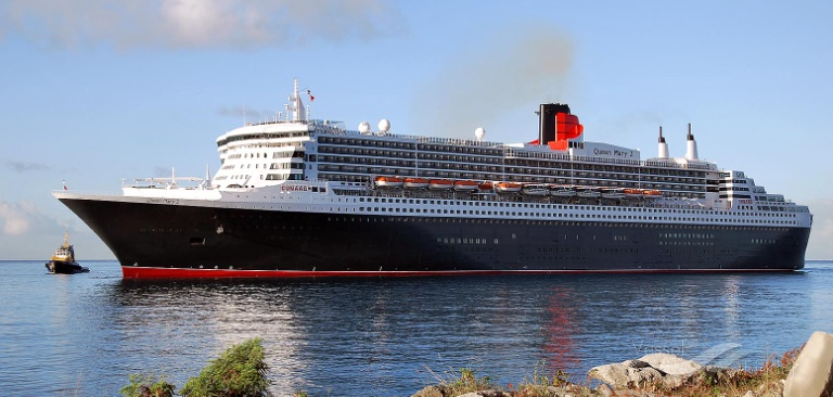 RMS QUEEN MARY 2 (MMSI: 310627000) ; Place: Barbados, West Indies.
