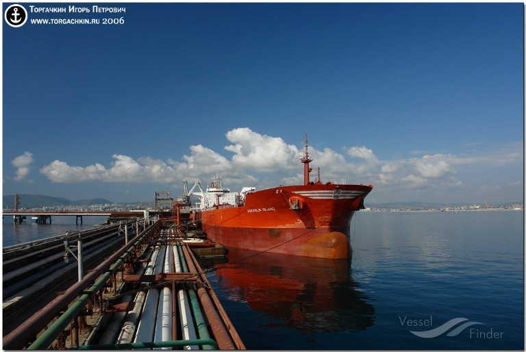 SAKHALIN ISLAND (MMSI: 210750000) ; Place: Oil Terminal SHESKHARIS, port Novorossiysk, Russia.