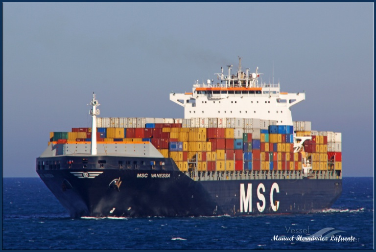 MSC VANESSA Vessel Tracking | Live position | IMO 9251688 | MMSI