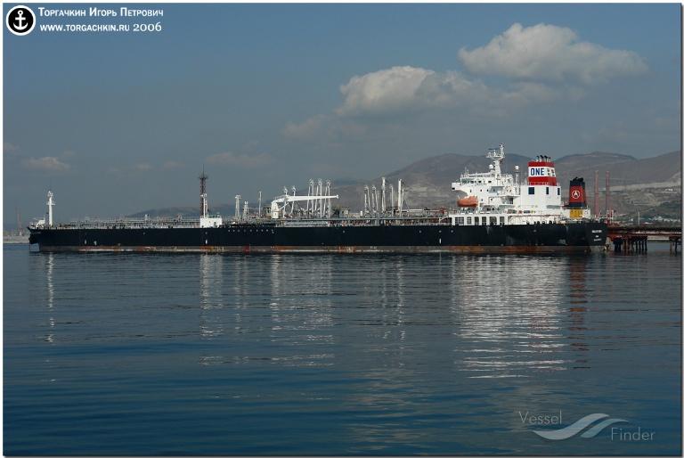 ARIEL (MMSI: 538002648) ; Place: Oil Terminal SHESKHARIS, port Novorossiysk, Russia.