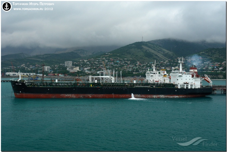 BERENIKE (MMSI: 538002071) ; Place: Oil Terminal SHESKHARIS, port Novorossiysk, Russia.