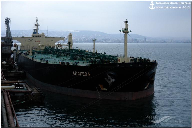 ADAFERA (MMSI: 256699000) ; Place: Oil Terminal SHESKHARIS, port Novorossiysk, Russia.