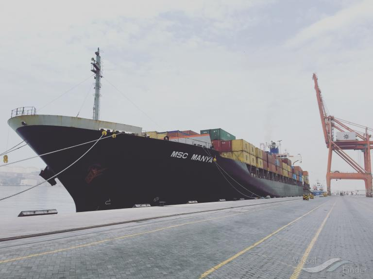 MSC MANYA, Container Ship - Details and current position