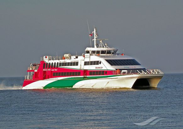 VICTORIA CLIPPER V (MMSI: 212259000) ; Place: Vor Cuxhaven/Elbe, Germany