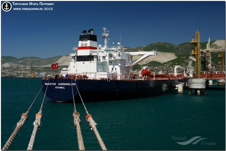 BESIKTAS DARDANELLES (MMSI: 271000818) ; Place: Oil Terminal SHESKHARIS, port Novorossiysk, Russia.