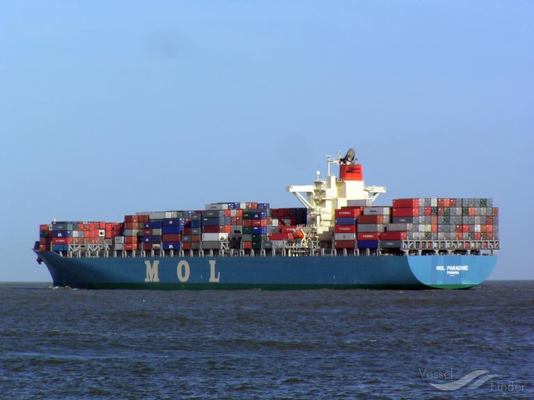MOL PARADISE, Container Ship - Details and current position