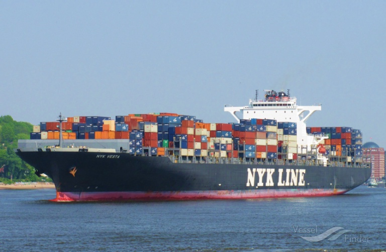 NYK VESTA, Container Ship - Details and current position - IMO