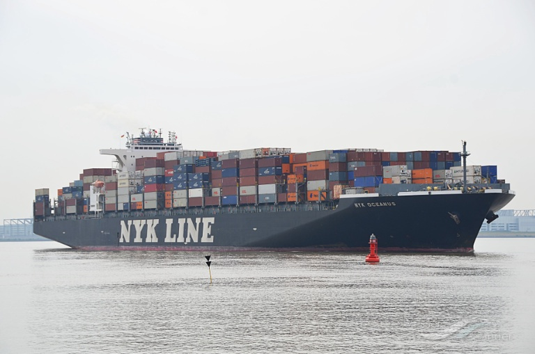 NYK OCEANUS, Container Ship - Details and current position