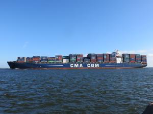 Photo of CMA CGM BLUE WHALE ship