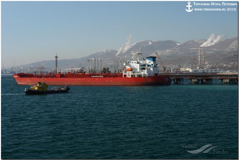 NS PARADE (MMSI: 636013277) ; Place: Oil Terminal SHESKHARIS, port Novorossiysk, Russia.