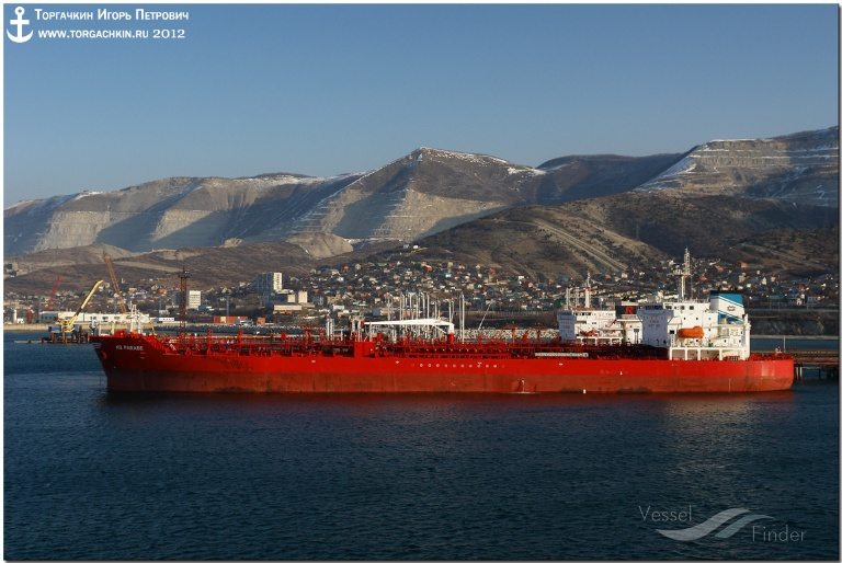 NS PARADE (MMSI: 636013277) ; Place: Oil Terminal SHESKHARIS, port Novorossiysk, Russia.