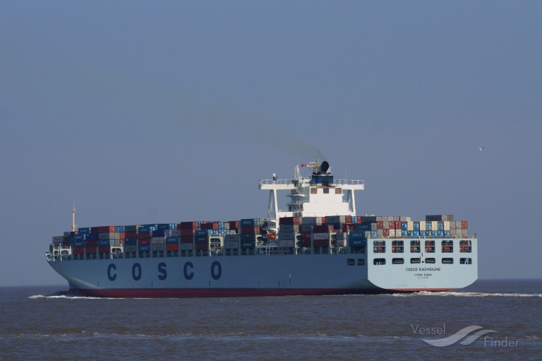 COSCO KAOHSIUNG (MMSI: 477136800) ; Place: Cuxhaven, Germany