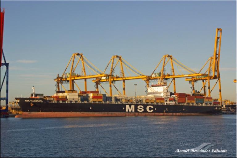 MSC FIAMMETTA (MMSI: 372843000) ; Place: Valencia
