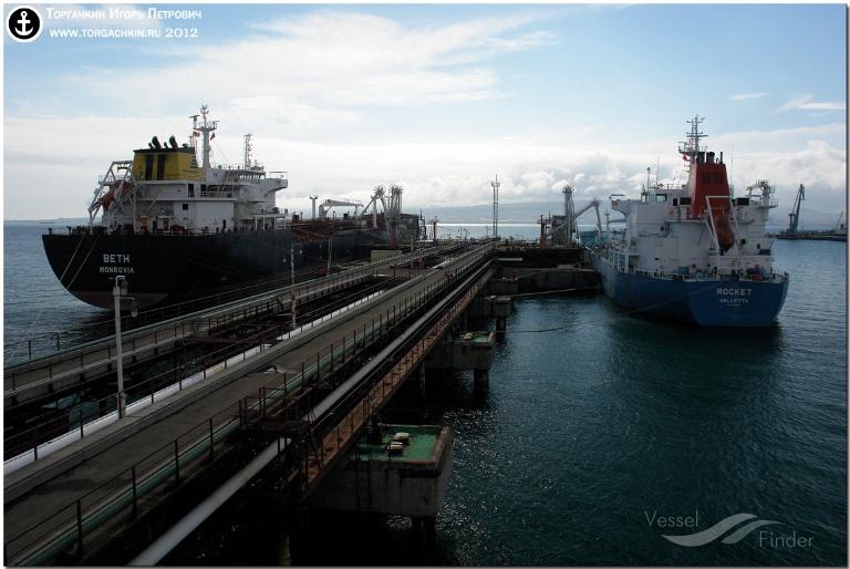 STEEL (MMSI: 538090510) ; Place: Oil Terminal SHESKHARIS, port Novorossiysk, Russia.