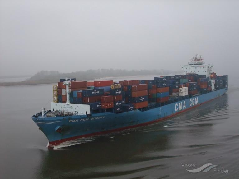 Cma cgm quartz container ship details and current - Cma cgm sailing schedule port to port ...