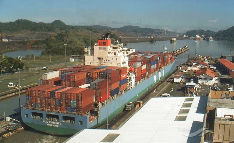 MOL EMINENCE (MMSI: 477547100) ; Place: The Panama Canal