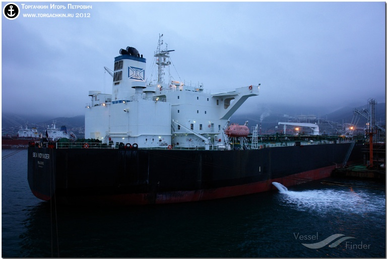 SEA VOYAGER (MMSI: 538003439) ; Place: Oil Terminal SHESKHARIS, port Novorossiysk, Russia.