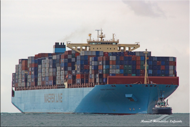 MAERSK EINDHOVEN (MMSI: 538004006) ; Place: Valencia