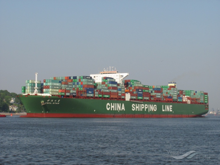 CSCL STAR (MMSI: 477963800) ; Place: Hamburg
