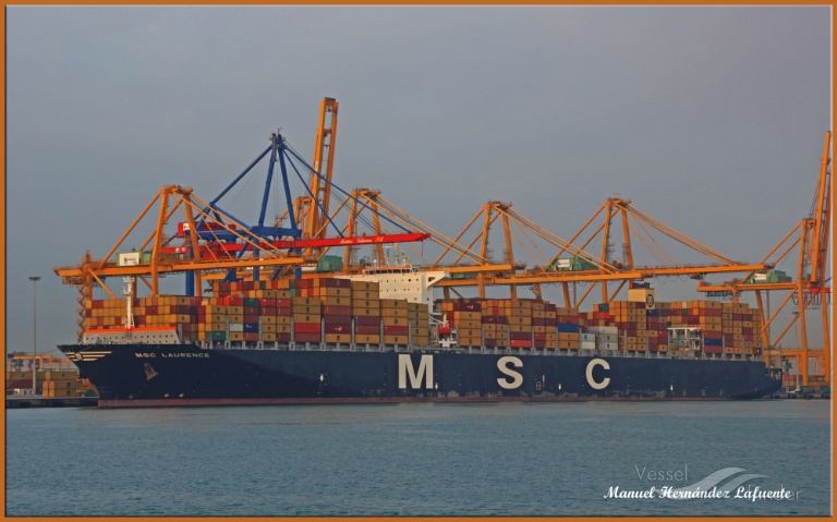 MSC LAURENCE (MMSI: 371582000) ; Place: Valencia