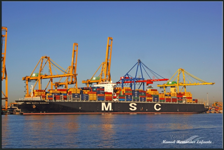 MSC MARIA SAVERIA (MMSI: 372400000) ; Place: Valencia