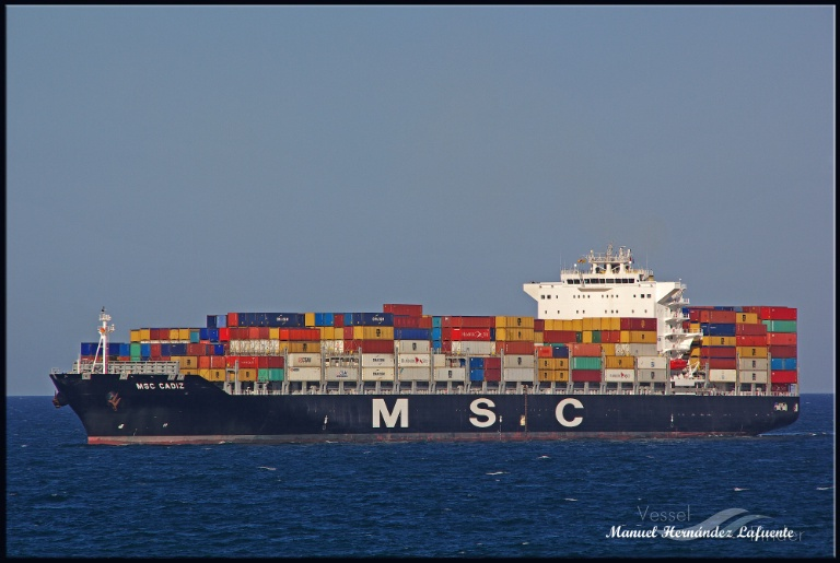 MSC CADIZ Vessel Tracking | Live position | IMO 9480203 | MMSI 636092273