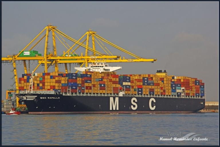 MSC RAPALLO (MMSI: 636092271) ; Place: Valencia