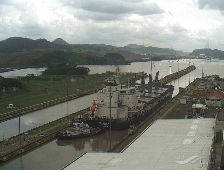 DRAGONERA (MMSI: 248698000) ; Place: Miraflores Locks, Panama Canal