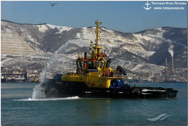 AGAT N (MMSI: 273354420) ; Place: Port Novorossiysk, Russia.