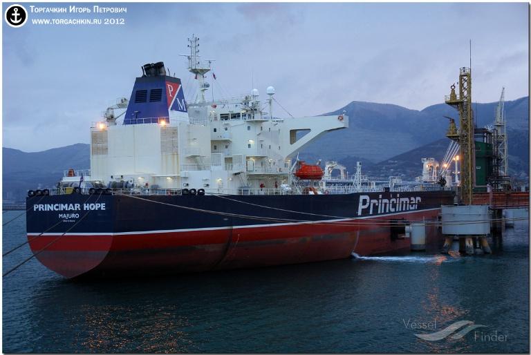 ATLANTA SPIRIT (MMSI: 311000438) ; Place: Oil Terminal SHESKHARIS, port Novorossiysk, Russia.