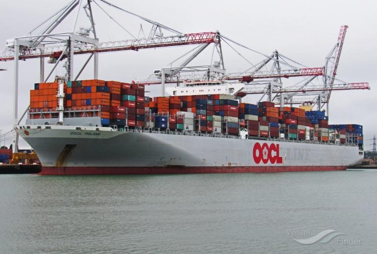 OOCL POLAND, Container Ship - Schiffsdaten und aktuelle Position - IMO 9622588 MMSI ...