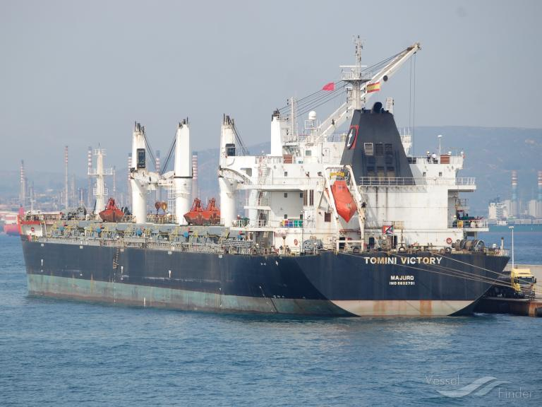 tomini victory bulk carrier details and current position imo