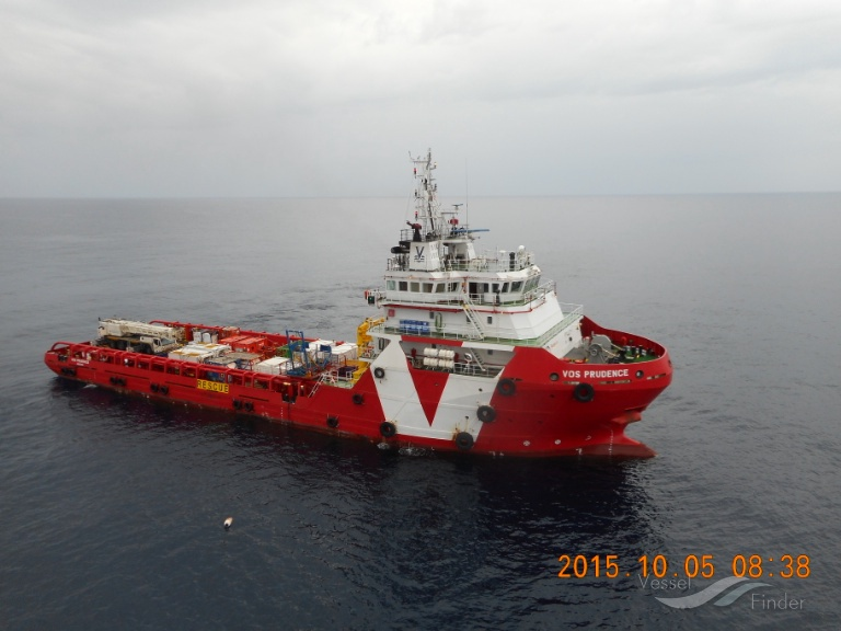 The 3d Offshore Support Vessel Docks in Beirut Port