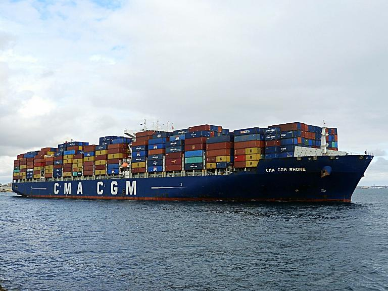 CMA CGM RHONE, Container Ship - Details and current position - IMO ...