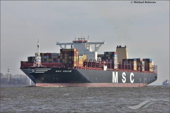 Msc Oscar Container Ship Details And Current Position