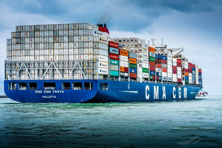 CMA CGM TANYA, Container Ship - Détails du bateau et situation actuelle -  IMO 9722704 MMSI 249324000 - VesselFinder