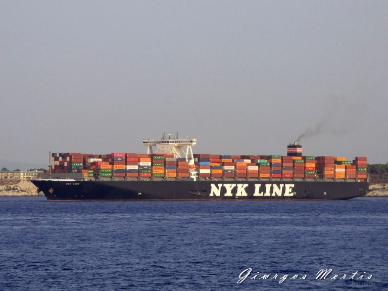 NYK HAWK, Container Ship - Details and current position